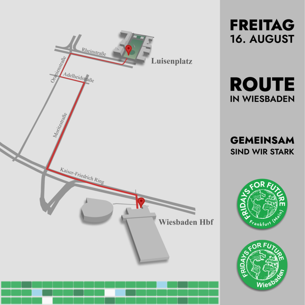 Route Streik in Wiesbaden am 16.08.19