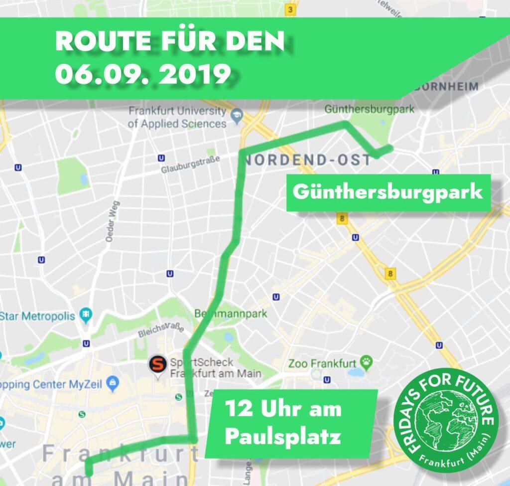 Route für Freitag, 06.09.2019