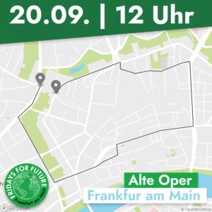 Demo-Route für den 20.09.2019